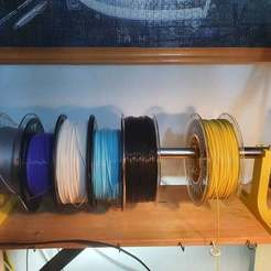 Download free 3D printer designs Shelf Mounted Spool Holder, vldfr