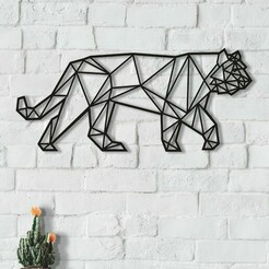 ti.jpg Download STL file geometric animal tiger • 3D printable design, ErickAlexander161