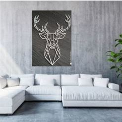 Captura2.JPG Download STL file geometric deer • 3D printing design, ErickAlexander161