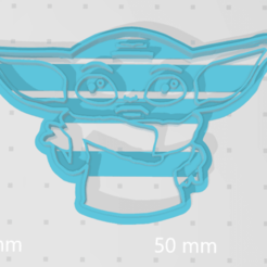 Impresiones 3D Cutter Cookie Baby Yoda The Mandalorian, VeryCutterCookie