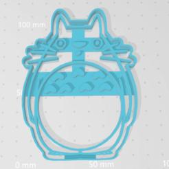 Descargar archivo 3D Cortador Galleta Totoro, VeryCutterCookie