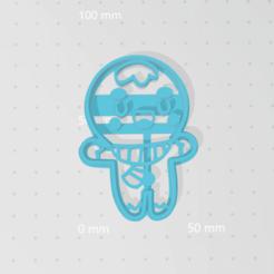 Download STL files Cutter Cookie Gingerbread Man Smile, VeryCutterCookie