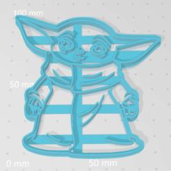 Télécharger plan imprimante 3D Bébé Yoda Le Mandalorien, VeryCutterCookie