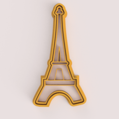 eiffel_tower_cutter_cookie.png Download STL file EIFFEL TOWER CUTTER COOKIE • 3D printing object, VeryCutterCookie