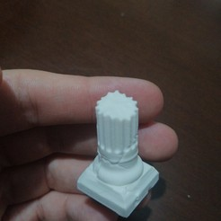 Download free OBJ file Column destroyed • 3D printable template, ehalitsumer