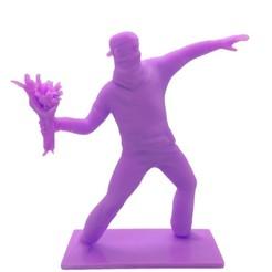 Télécharger fichier imprimante 3D Banksy - Soldat lançant des fleurs, amanchas