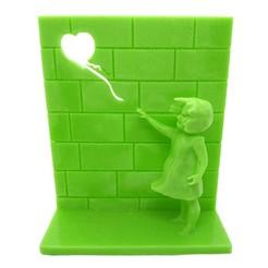 nina.jpg Télécharger fichier STL Banksy - Fille avec ballon • Plan pour impression 3D, amanchas