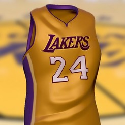 lakers24.jpg Download free STL file Kobe Bryant T-shirt • 3D printer object, amanchas