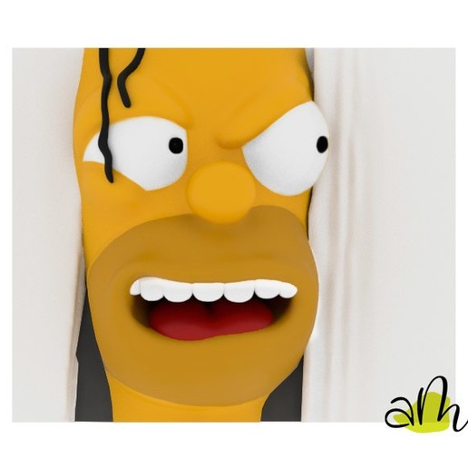Download STL file Homer Simpson The Shining, amanchas