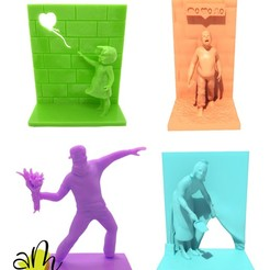 pack_banksy.jpg Download STL file Banksy - pack • 3D print model, amanchas
