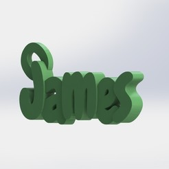 james 2.JPG Download STL file James Keychain • 3D print model, Cosplay3D