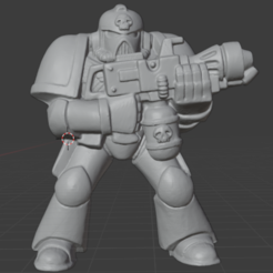 flamer.PNG Download free STL file Retro Space Warrior Pyro • 3D print model, Mukksticky