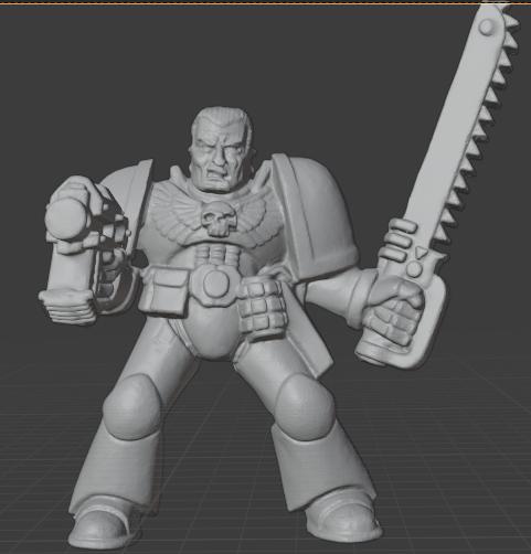 sarge.PNG Télécharger fichier STL gratuit Chef de file des guerriers de l'espace rétro • Modèle à imprimer en 3D, Mukksticky