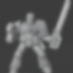sargesolid.stl Télécharger fichier STL gratuit Chef de file des guerriers de l'espace rétro • Modèle à imprimer en 3D, Mukksticky