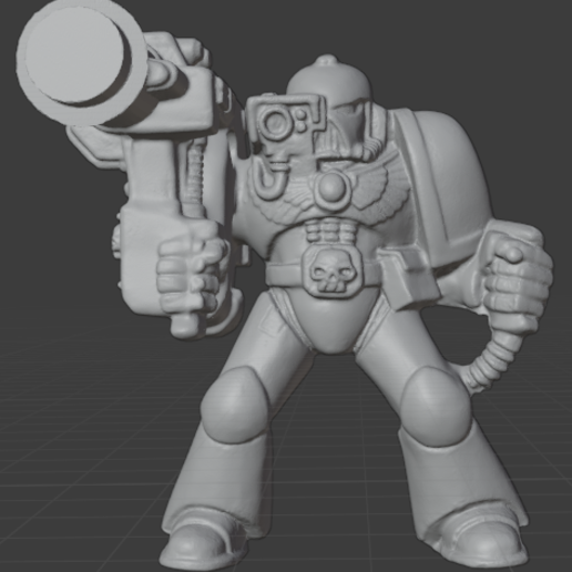 heavy.PNG Download free STL file Retro Space Warrior Heavy • 3D printable model, Mukksticky
