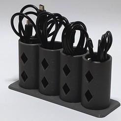 Télécharger fichier 3D gratuit Porte-câble, ma-unique