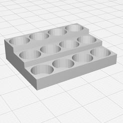 Descargar modelos 3D gratis Organizador de tazas de pintura, bm219