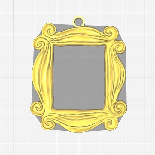 Download free 3D print files Friends Peephole Frame Keychain, bm219