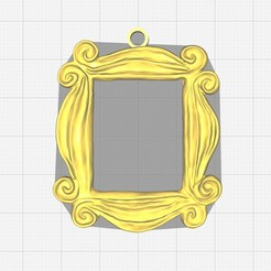 Download free 3D print files Friends Peephole Frame Keychain, bm219