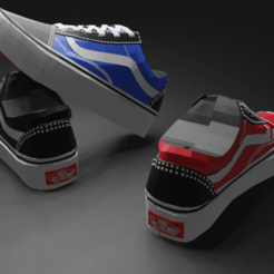 C4E73FB9-C84A-45A6-9C19-C50137D90AB1.png Download STL file Vans old school low sneakers  • 3D printable template, smisomndawe9