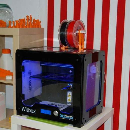 Télécharger fichier STL gratuit Support de bobine externe Witbox pour filament souple • Plan à imprimer en 3D, steevebecker