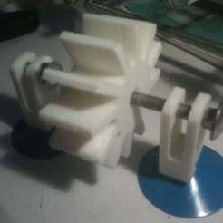Télécharger fichier imprimante 3D gratuit roue à eau, steevebecker