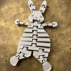Impresiones 3D gratis Muñeca suave de conejo Flex, Kangoo-roo