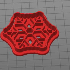 Bez názvu.png Download STL file snowflake cookie cutter • 3D printer template, 1881