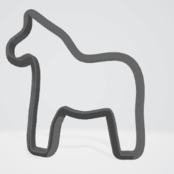 Bez názvu.png Download OBJ file Horse cutter for cookies and gingerbreads • 3D print model, 1881