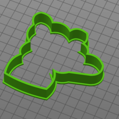 bear with heart.png Download STL file Bear with heart cookie cutter • Object to 3D print, 1881