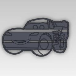 Descargar modelos 3D para imprimir Rayo McQueen Cookie Cutter, gabicampo17