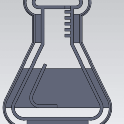 Captura de pantalla 2020-12-09 170127.png Download STL file Erlenmeyer Cookie Cutter • 3D print design, gabicampo17