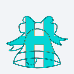 Captura de pantalla 2020-12-09 163435.png Download STL file Christmas Bell Cookie Cutter • Template to 3D print, gabicampo17