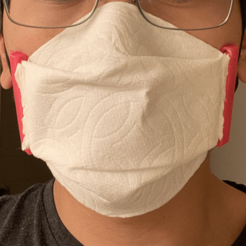 Download free 3D printing templates Paper Towel Face Mask, klin39