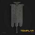 Download 3D printing files Templar Marine Standard Banner, hpbotha
