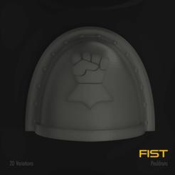 Download 3D printing models Fist Space Marine Pauldron Pack, hpbotha