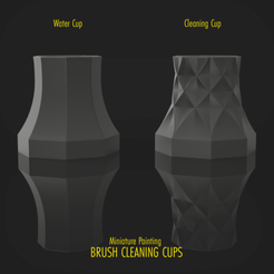 Download 3D printing files Miniature Painting BRUSH CLEANING CUPS, hpbotha