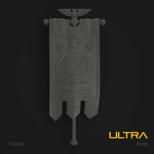 Download STL files Ultra Marine Standard Banner, hpbotha