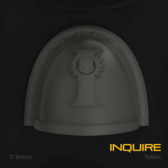 Download 3D printing designs Inquire Space Marine Pauldron Pack, hpbotha