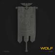 Download STL files Wolf Marine Standard Banner, hpbotha