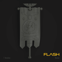 Download STL file Flash Marine Standard Banner, hpbotha