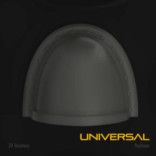 Download 3D model Universal Space Marine Pauldron, hpbotha