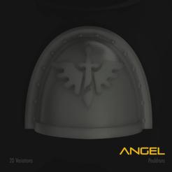 Download STL file Angel Space Marine Pauldron Pack, hpbotha