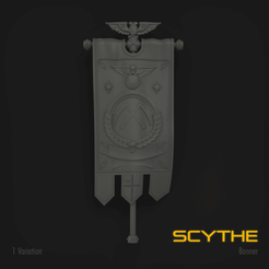 Download STL file SCYTHE MARINE STANDARD BANNER, hpbotha
