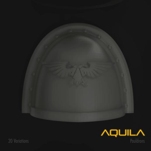 Download 3D printer templates Aquila Space Marine Pauldron Pack, hpbotha