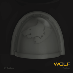Download 3D printing templates Wolf Space Marine Pauldron Pack, hpbotha