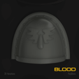 Download 3D model Blood Space Marine Pauldron Pack, hpbotha
