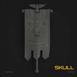Download 3D print files Skull Marine Standard Banner, hpbotha