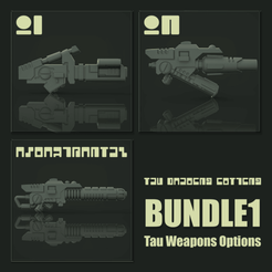 Download 3D printer designs T'au Commander Weapon Bundle, hpbotha