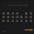 Download 3D printer designs Hand Space Marine Pauldron Pack, hpbotha